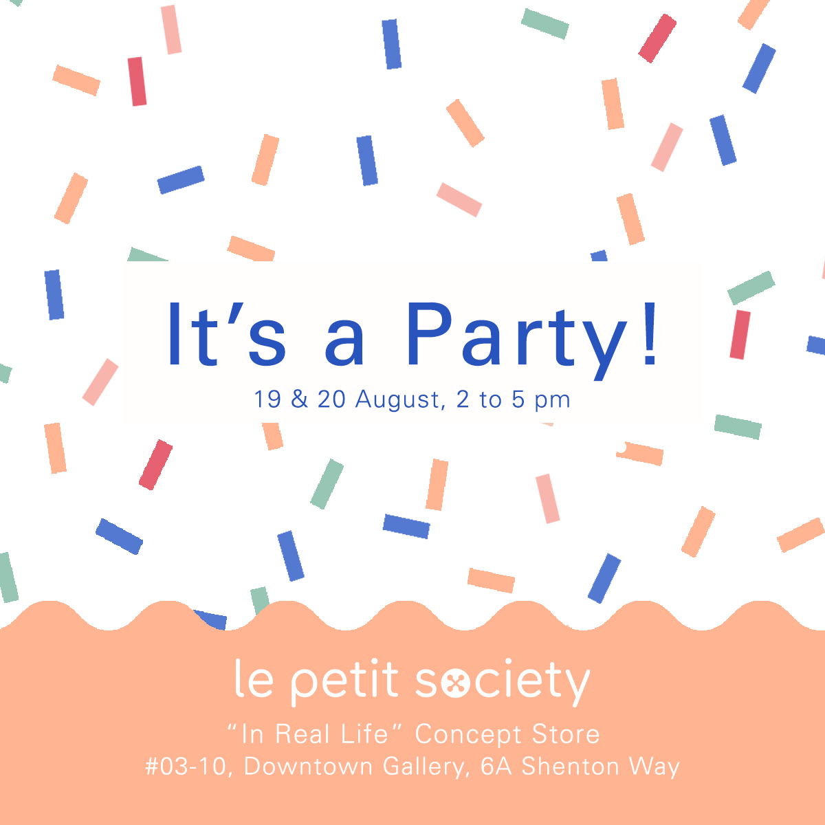 An invitation to our official opening party!