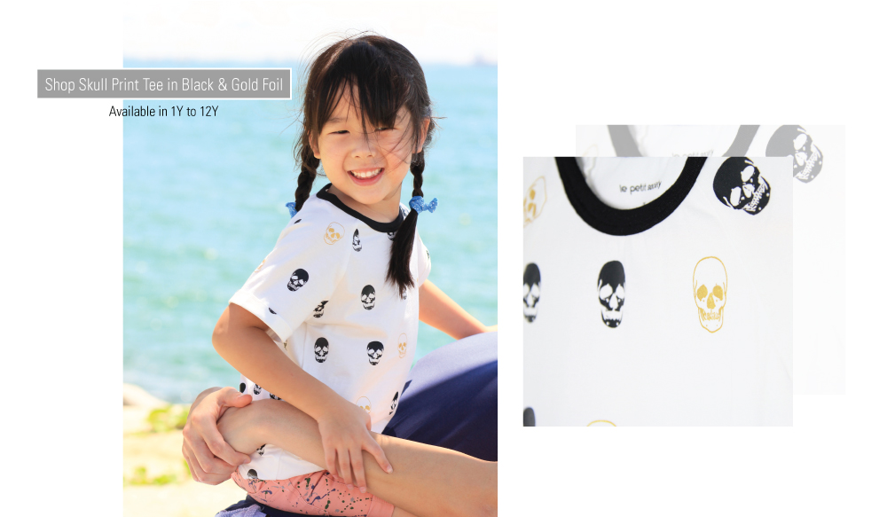 Le Petit Society Basics Collection Skull Tee