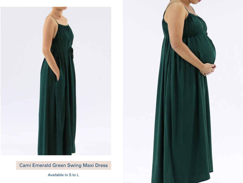 Shop Cami Emerald Green Swing Maxi Dress