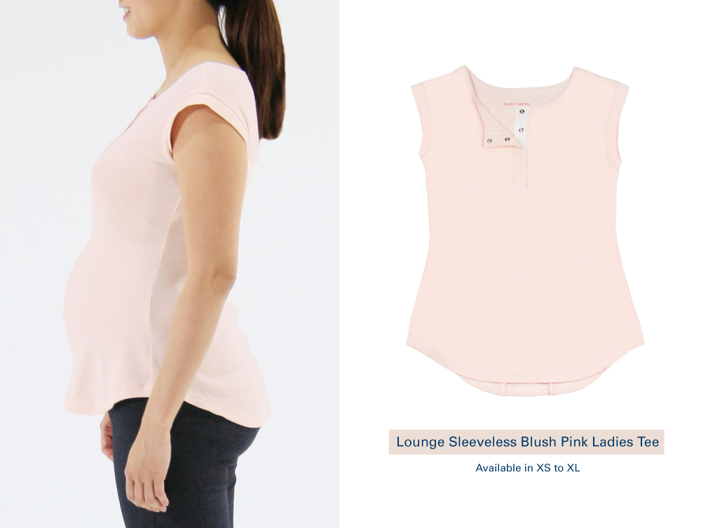 Shop Lounge Sleeveless Blush Pink Ladies Tee