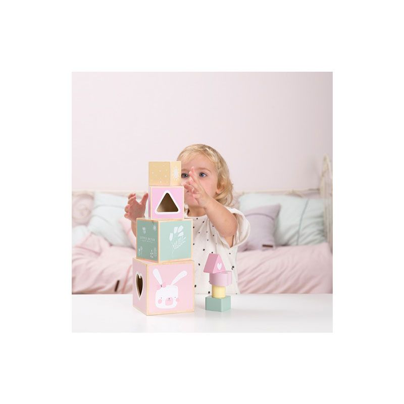 Wooden Stacking Blocks by Little Dutch